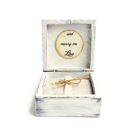 proposal ring box marry me engagement ring box wood ring