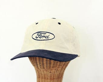 FORD Authentic Cap Hat Headwear Men's Vintage Original Made in the USA 80s 90s