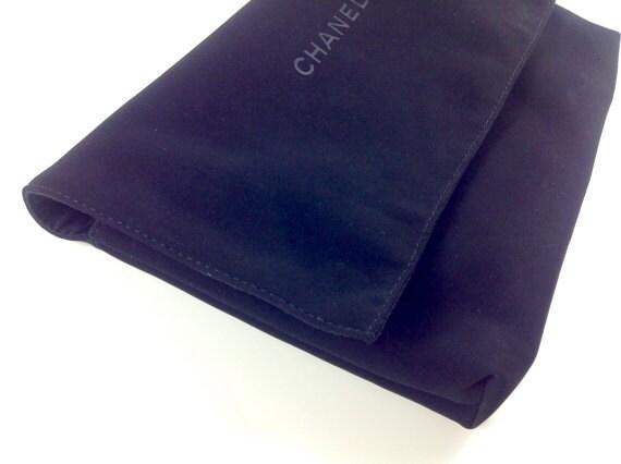 Authentic Chanel black tone dust bag, bag protection / purse