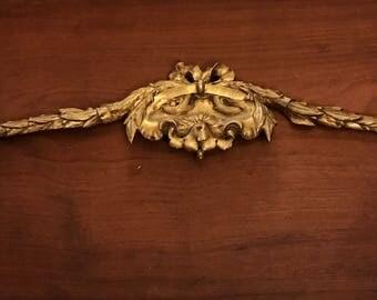 Vintage french cast metal decorative garland