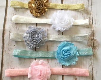 YOU PICK 2 Baby Headbands/Newborn Headband/Baby Girl Headband/Infant Headband/Toddler Headband/Shabby Chic Headbands/Baby Headband/Baby Bow