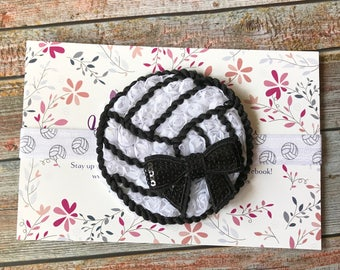 Volleyball Baby Headband/Volleyball Headband/Baby Headband/Newborn Headband/Toddler Headband/Sports Headband/Girls Headband/Baby Headbands