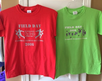 Personalized School Activity shirt - Field Day, Spirit Week, and other special days!