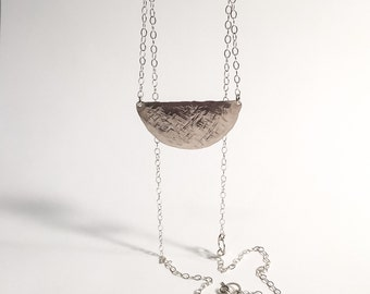Tina Sterling Silver Half-Moon Necklace