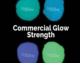 Commercial Strength Glow in the Dark Bright Powder Pigment Paint *Many Colors* Waterproof Strontium Aluminate Encapsulated Nails Art Water