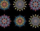 Multi Kismet Mandalas from the Kismet Collection by Paula Nadelstern from Benartex