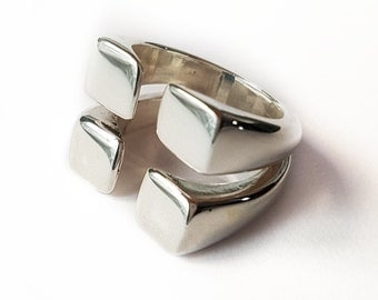 Ring silver. Ring Original.Anillo striking. Ring square. Silver ring. original ring. Square Ring