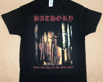 Bathory, Under The Sign Of The Black Mark, T-shirt 100% Cotton