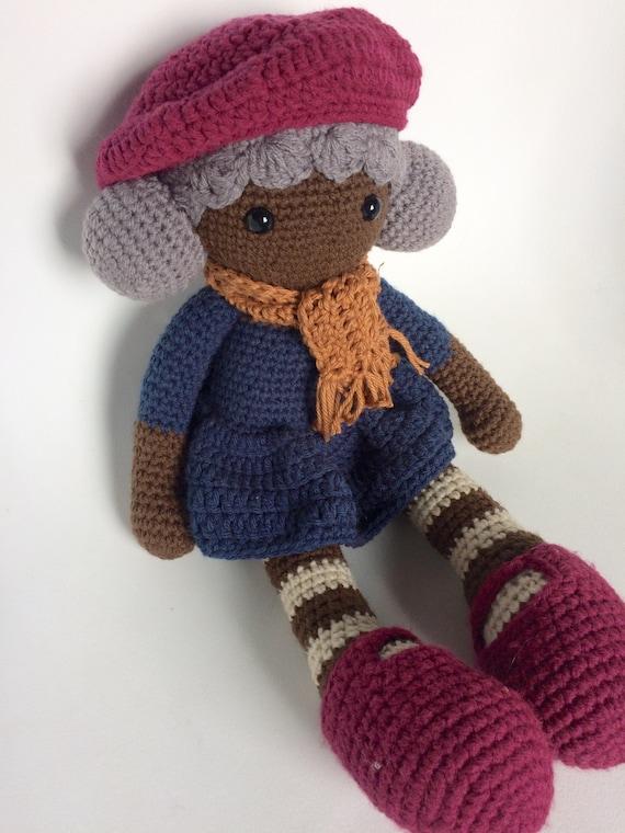 Amigurumi Doll Skirt : Crochet doll Amigurumi Striped leggings Cute Lovey