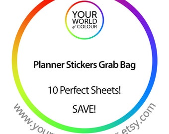 10 Sheets of Planner Stickers For use with Erin Condren, Filofax, Happy Planner, Kikki K, Kate Spade, Dokibook and more! NO COUPONS PLEASE