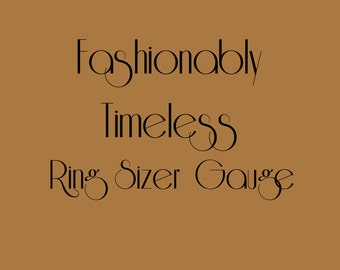 Fashionably Timeless Low Cost Engagement Ring Sizer