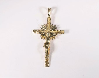 "14K Yellow Gold ""Crucifix"" Pendant"