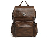 Handmade Luxury Leather Large Travel Backpack Rucksack Bag Ideal for a Travel Bag University School College 14 Laptop Bag