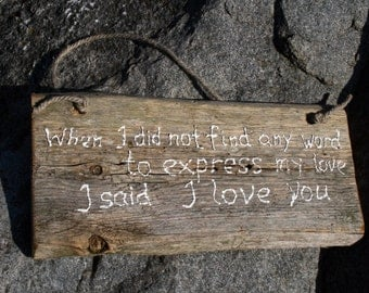 Wood Signs Sayings About Love,Reclaimed Wood Sign,Original Gift Idea
