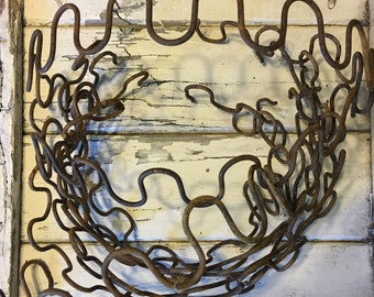 Rusty Chair Springs From Vintage Zig Zag Upholstery Garbage Salvaged Sinuous Spring, Mattress Bed Springs, Item #502533315