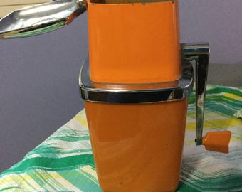 Orange Vintage 1960s Swing-A-Way Ice Crusher