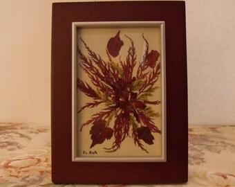 Original Pressed Floral Art - Heart of Fall