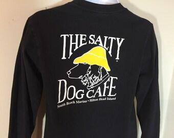 T-Shirt Adult S-The SALTY DOG CAFE Long Sleeve Tee -Hilton Head Islandy