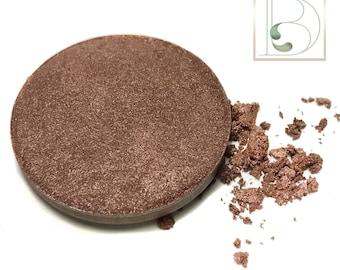 Cashmere Eyeshadow Single-Vegan-Hand Pressed Eye Shadow-Eyeshadow-Single 26 mm-Organic Eyeshadow Single, Vegan Golden Brown Eyeshadow