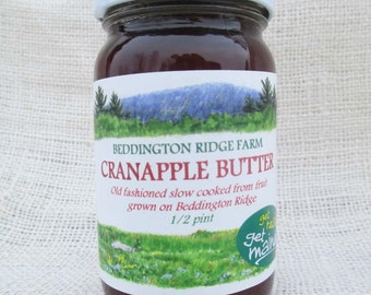 cranapple butter/old fashioned slow cooked cranapple butter/homemade cranapple butter/slow cooked cranapple butter/cranapple fruit butter