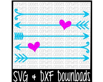 Valentine SVG * Arrows * Heart * Valentine * Valentine's Day Cutting File - SVG & DXF Files - Silhouette Cameo/Cricut