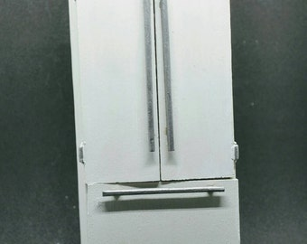 1:12 scale side by side refrigerator