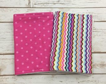 Newborn Baby Girl Burp Cloths - Baby Shower Gifts - Gift Set for Baby Girl - Burp Cloth Set of 2