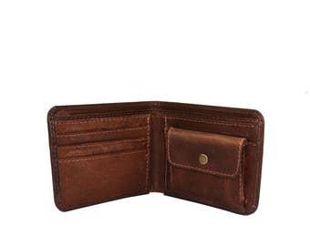 Men's Brown Leather Wallet