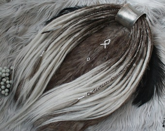 """Synthetic dreads crochet , double ended or single ended, light ombre set """"Viking"""""""