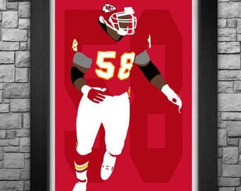 DERRICK THOMAS minimalism style limited edition art print. Choose from 3 sizes!