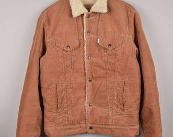 levis sherpa, corduroy sherpa, levis beige sherpa, levis shearling jacket, levis denim jacket, vintage levis