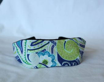 Blue Paisley Headband