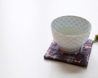 Handmade Japanese Style Embroidered Fabric Coasters