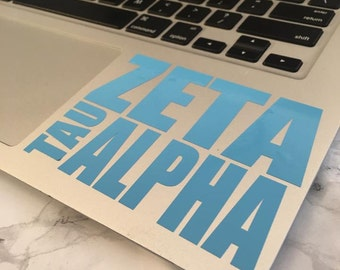 Zeta Tau Alpha Block Decal