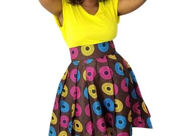 African mini skirt, Mini skirt, African skirt, Ankara skirt, African print skirt,  Brown mini, African clothing,  ankara mini, Brown skirt