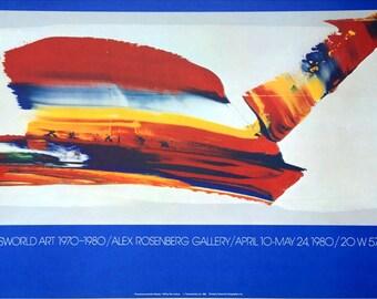 "Paul Jenkins -  ""Trans World Art"" - Original Lithograph Exhibition poster, 1979"