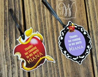 Descendants Tags- Descendants Party -Descendants favors - Descendants Birthday Party - Descendants Party -Favors - Tags