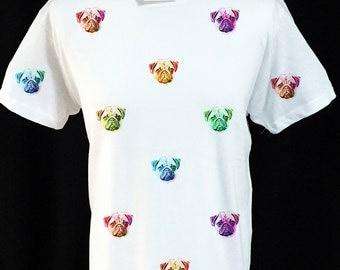 Pug Face Pattern T-shirt
