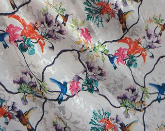 1 y _ Gorgeous Floral Stretch Jacquard Satin,Imported.