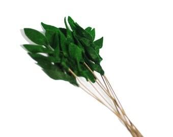 Felt Leaves - Dark Green