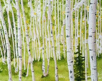 Aspens blank greeting card