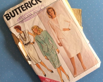 Vintage Sewing Pattern - Butterick 3682 - Retro 1986 Dressmaking Pattern - Blouse Skirt Trousers Sewing Pattern - Multi Size 8 10 12  Sewing