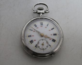 Vintage swiss silver pocket watch