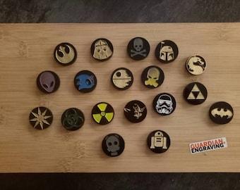 Custom Engraved Caps for 608 Skate Bearings - Fidget Spinners