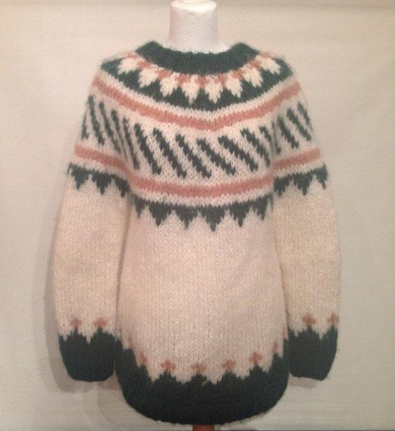 Vintage handknitted sweater EV13