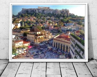 Athens Photography, Greece print, Acropolis Parthenon Wall art, Monastiraki Photography, Architecture,Historical places prints,digital print