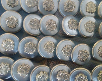 "lot of vintage brass buttons 3/4"" size"