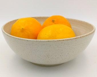 Ceramic medium bowl - White medium Serving Bowl - handmade bowl - ceramic white bowl