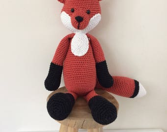 Crochet Crocheted Fox/fox/hug Toy