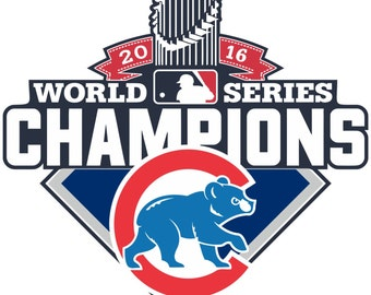 Chicago Cubs World Series 2016 Champions MLB   Decal/Sticker